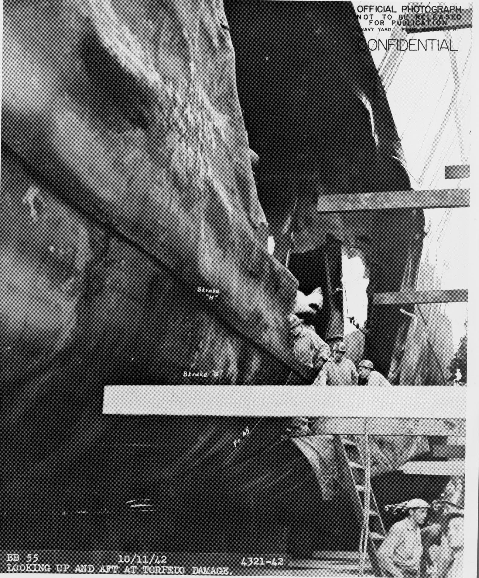 Torpedo damage May Programming Aboard the Battleship NORTH CAROLINA