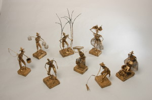 Weekes' Figurines Traditional Miniatures – acrylic, wire & mixed media