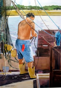 Deck Hand 208x300 Brushwork Society to Exhibit at Sunset River Marketplace