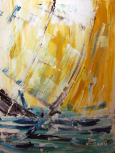 Sunset Sail acrylic by Donn McCrary