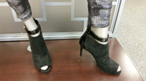 peep toe boots by Jennifer Lopez $89.99