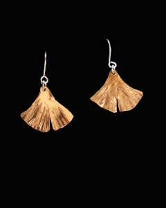 Copper earrings with sterling wire by Janette Franich