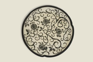 Raine Middleton, carved clay platter, 18 inches