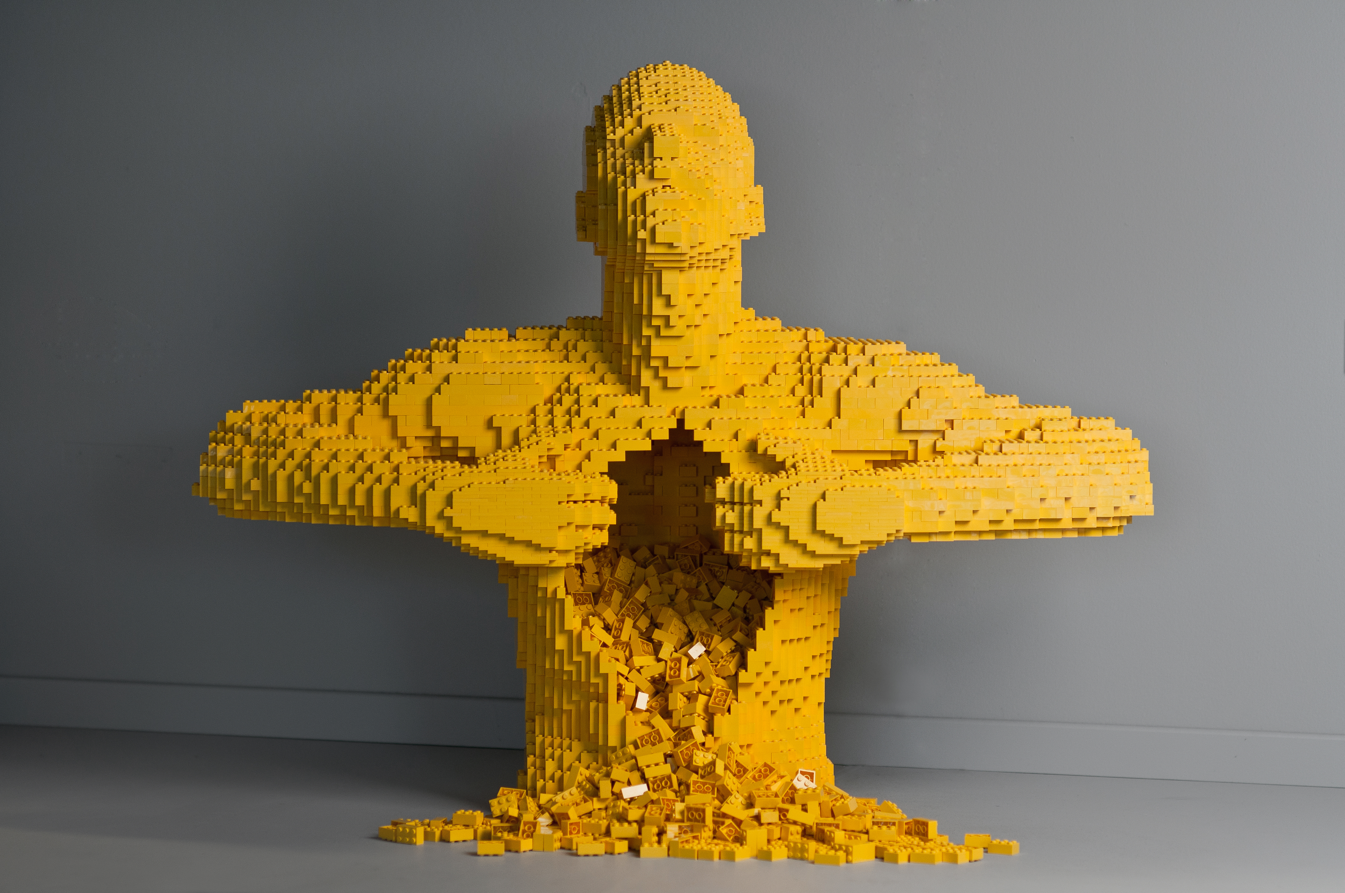 Yellow by artist Nathan Sawaya. Photo courtesy of brickartist.com