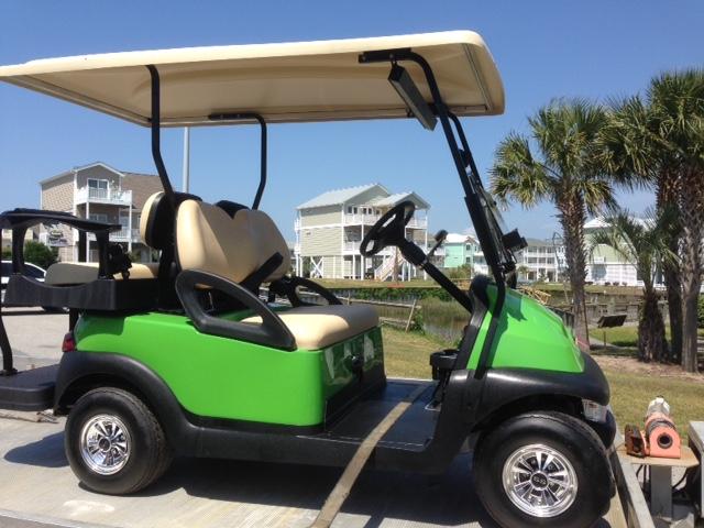 Win a golf cart international show tell for Narrow golf cart