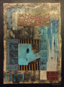 Summer HeatI - Mixed Media Collage by Sharon DiGiulio